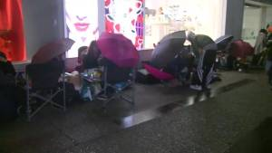 People line up in Vancouver for Kanye West's latest limited edition shoes