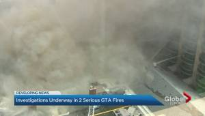 Several buildings evacuated after midtown Toronto fire (02:23)
