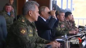 Vladimir Putin attends massive war games in Russia