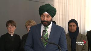 MP says government 'strongly denounce' incident at Ontario mosque