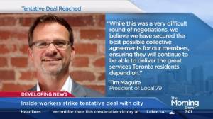 Inside workers reach tentative labour deal with City of Toronto