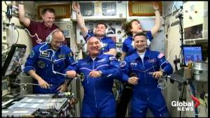 Astronauts welcomed aboard Soyuz MS-13/59S