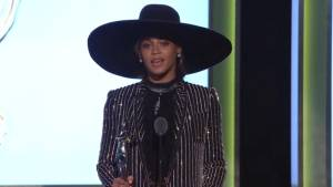 Beyonce makes surprise appearance at CFDA awards, talks family and fashion