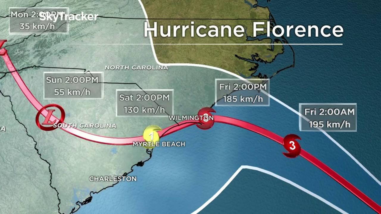 A.M. Update: Florence weakens slightly as approaches NC coast
