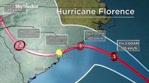 Hurricane Florence forecasts historic floods and rain