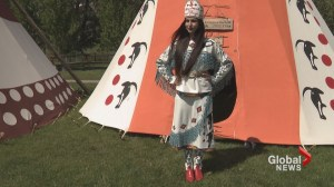 2018 Calgary Stampede Indian Princess dons breathtaking leather parade dress