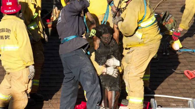 Woman gets trapped in chimney of man she met online - Telegraph