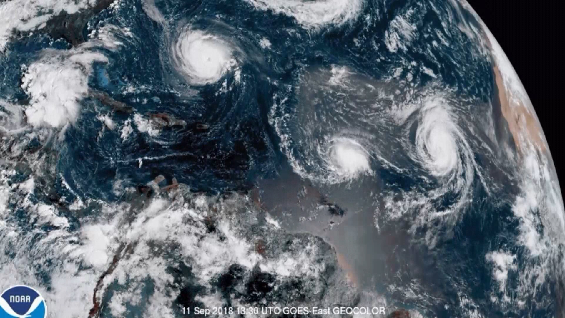 Satellite images show Hurricane Florence as it nears U.S. coast