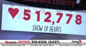 Final total from the Variety Show of Hearts telethon 2019