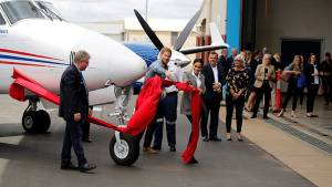 Prince Harry, wife Meghan unveil a new aircraft for Royal Flying Doctors Service in New South Wales