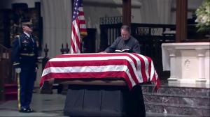 George H.W. Bush lies in repose at Houston church