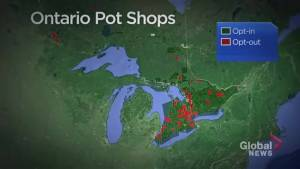 A look at which Ontario municipalities have opted out of retail pot shops