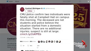 Two dead following shooting at Central Michigan University