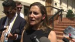 Freeland to make 'real push over summer' to negotiate NAFTA deal