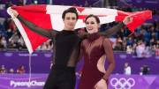 Play video: Scott Moir and Tessa Virtue claim gold in ice dance