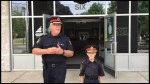 City of Kawartha Lakes police chief John Hagarty celebrates last day on the job with his daughter