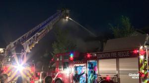 Explosive fire consumes duplex in southeast Edmonton