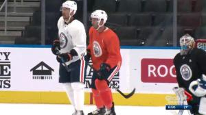 Edmonton Oilers prepare for pre-season game in Saskatoon