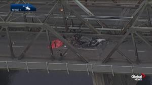 Speed, alcohol suspected in fatal rollover that dented Edmonton's Low Level Bridge