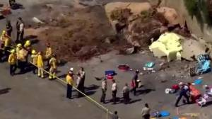 3 killed in cliff collapse in California