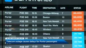 Telecom outage in U.S. leaves Porter passengers stranded