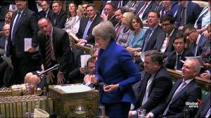 Theresa May defends Boris Johnson ahead of stepping down as PM