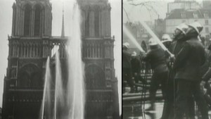 Notre Dame: Old footage shows Paris firefighters cleaning cathedral
