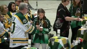 Candles lit in memory of the Humboldt Broncos and for the survivors