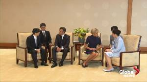 French President Macron meets Japanese Emperor and Empress ahead of G20 summit