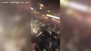 Dramatic video shows panic inside Manchester Arena following explosion