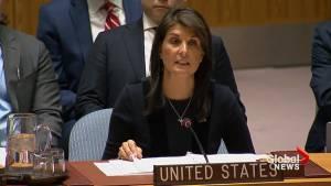 U.S. stands in solidarity with U.K, believes Russia behind Salisbury poison attack (01:18)