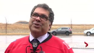 Naheed Nenshi predicts Calgary Flames will beat Ducks in 1st round, hints at bet with Anaheim mayor
