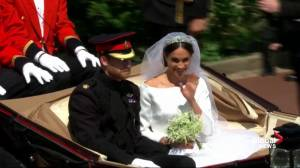 Royal Wedding: Prince Harry and Meghan Markle depart Windsor Castle in a carriage