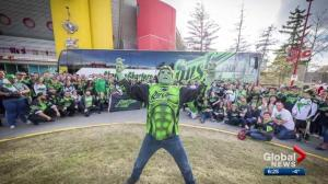 'Rush Hulk' not allowed to rev up fans at Calgary Roughnecks game