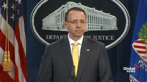 Indictment of Russians does not include any change in outcome of U.S. election