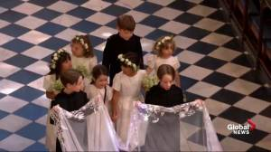 Royal Wedding: Adorable page boys, flower girls hold Meghan Markle's veil