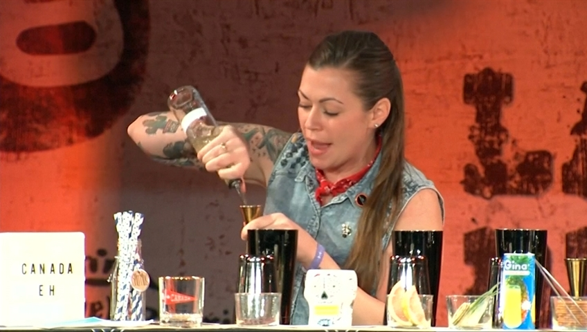 Cocktail queen: Canadian woman wins competition as best bartender of the year