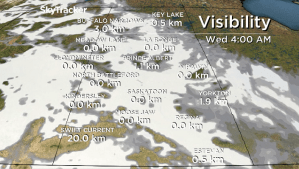Saskatoon weather outlook: thick fog reducing visibility