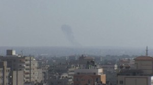 Explosions as Israel retaliates after rocket fire from Gaza