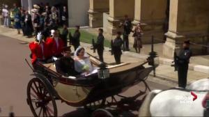 Royal Wedding: Prince Harry and Meghan Markle enjoy carriage ride