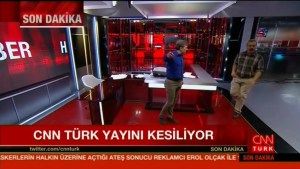 Turkish soldiers raid television station in attempted coup