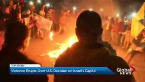 Palestinians protest polarizing Jerusalem decision