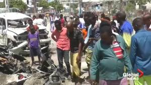At least 9 dead, 13 wounded after suicide bomb attack in Somalian capital