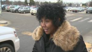 Interview with female SUV driver in Kelowna parking lot crash