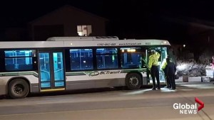 Bus driver allegedly assaulted in Kelowna, bus crashes in opposite lanes