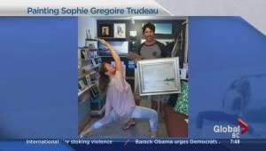 Tofino artist paints her inspiration, Sophie Gregoire-Trudeau (03:36)