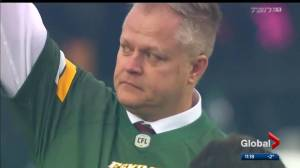Eskimos pay tribute to Edmonton's first responders after attack outside Commonwealth Stadium