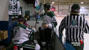 Calgarians vie for world's longest hockey game