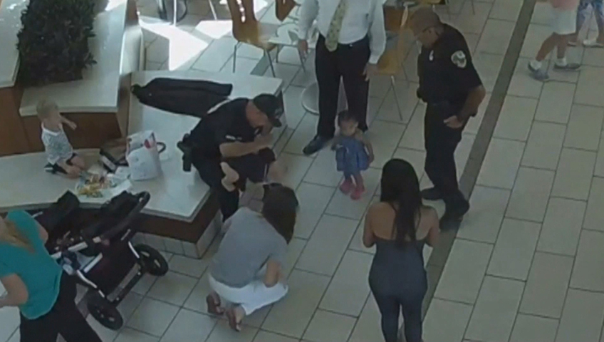 Quick-thinking officers save young child choking at Florida mall