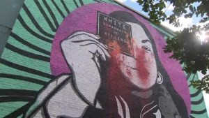Mural calling out white supremacy in Saint-Henri defaced for a third time